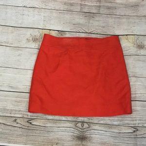 J.CREW Orange Skirt